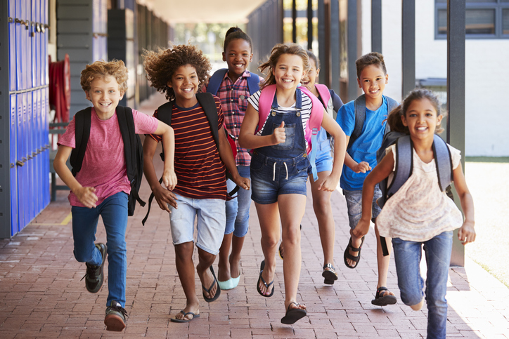 Children Running Down School Hallway - How Upgrading Education will Secure the Future